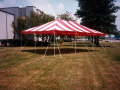 Where to rent TENT, 20 X 30 POLE RED WH in Conyers GA