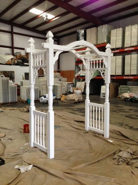 Where to find WHITE, OUTSIDE VINYL ARBOR in Conyers
