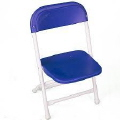 Where to rent CHAIRS, FOLD CHILDS BLUE in Conyers GA