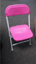Where to rent CHAIRS, FOLD CHILDS PINK in Conyers GA