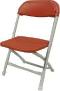 Where to rent CHAIRS, FOLD CHILDS RED in Conyers GA