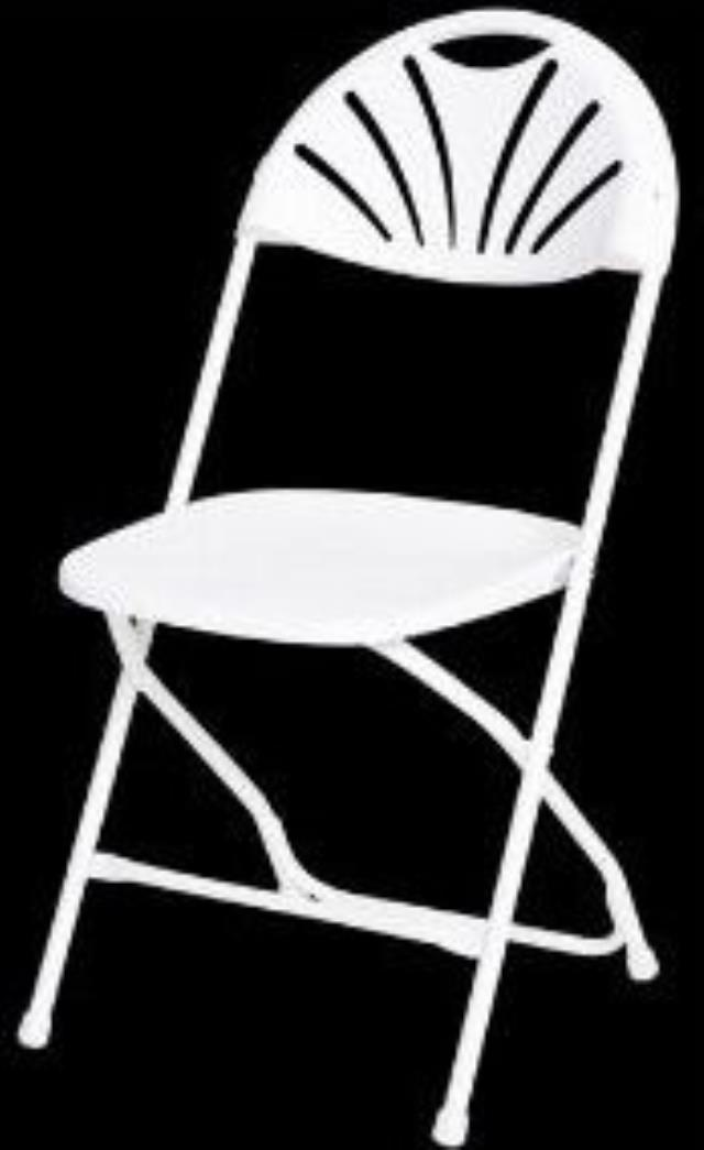 Where to find CHAIRS, FOLDING FANBACK WHITE in Conyers